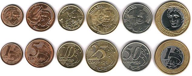 Бразильская монета набор для монет украины